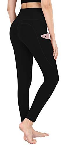 CUGOAO High Waist Yoga Pants, Yoga Pants with Pockets Tummy Control Workout Pants Pocket Leggings Black