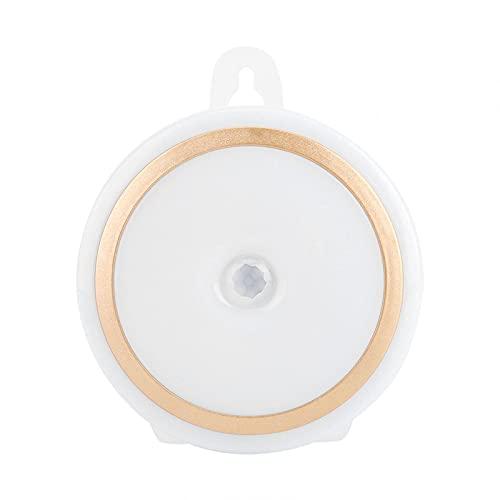Emoshayoga Control Remoto Brillo Ajustable Fácil de Instalar Haz Ancho 5 LED Luz Nocturna para Pasillo Armario Armario Luz de Noche(Modelo de batería (sin batería))
