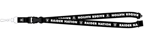 Oakland Raiders PSG RAIDER NATION Premium Lanyard 2-sided Breakaway Clip Keychain Football Clip Sport Ball Keychains