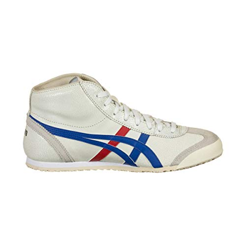Onitsuka Tiger Mexico Mid Runner, Running Shoe Unisex-Child, Blanco/Azul, 38 EU