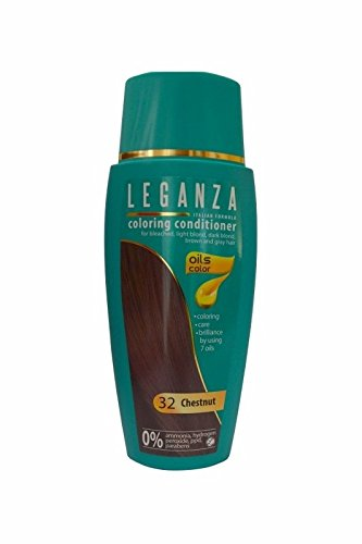 Sparset 2 x Leganza Färbender Conditioner Farbe 32 Kastanie Mit 7 natürlichen Ölen Ammoniak und Paraben frei