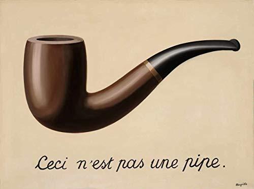 A Traição das Imagens de René Magritte - 50x67 - Tela Canvas Para Quadro