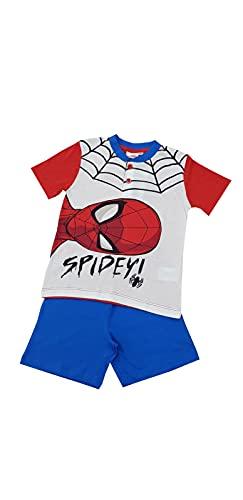 Pigiama corto per bambino mezza manica Marvel Spiderman in cotone jersey per ragazzo (B2MV16211 ROSSO, 10 ANNI)