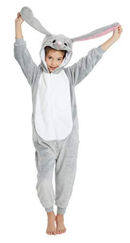 Sunbaby Kinder Cosplay Pyjamas Einhorn Jumpsuits Kostüm Kinder Karneval Cosplay Kostüme (Kaninchen, 120/Höhe 116-125)