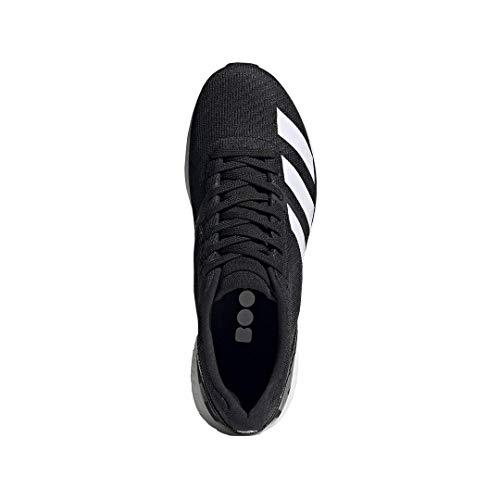adidas Men's Adizero Boston 8 Running Shoe, Black/White/Grey, 12 M US 5