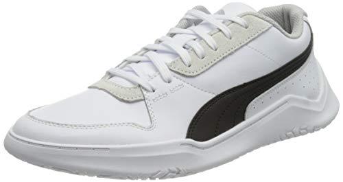 PUMA DC Past, Zapatillas Unisex Adulto, Blanco White Black/Gray Violet, 44.5 EU
