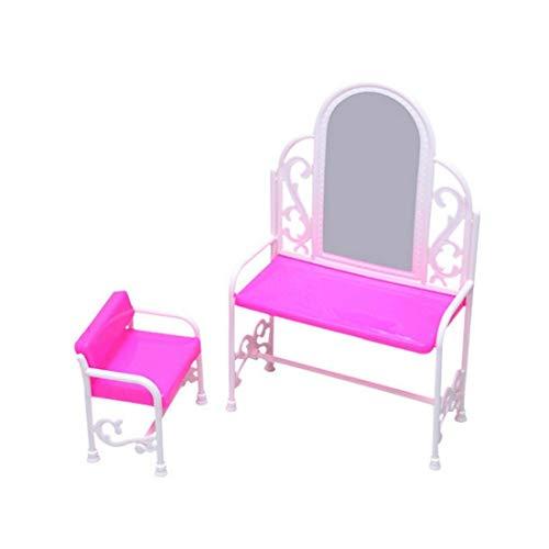 Princesa De La Muchacha De Muñecas Mini Dormitorio Mesa Y Juego De Sillas para Muñecas Decoración