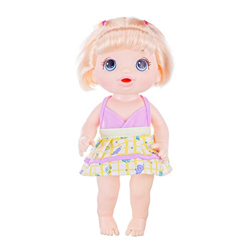 XADP 5 Pack Baby Doll Clothes Outfits for 12 Inch Alive Baby Dolls, Set of 5 with Hair Bands Alabama