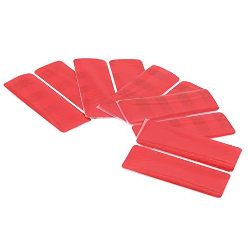 zwyjd 1 Set Reflective Tape Sicherheitswarnleuchte Reflektor Schutzaufkleber Warnbänder Auto hinten Rechteck Warnaufkleber,Rot (3 * 8CM)