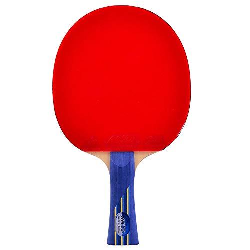 Lerten Raquetas de Tenis de Mesa,Bate de Ping Pong Profesional de 8 Estrellas Adhesivo Inverso de Doble Cara Ligera para Juegos en Interiores Y Exteriores/A/mango largo