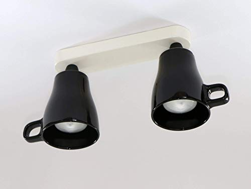 Tassenlampe, Geschirrlampe, Lampe aus Tassen, Boho Küchenlampe aus Geschirr, Deckenstrahler