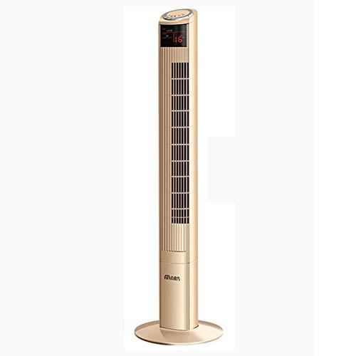 Global Design Concepts Ventola a Torre a Risparmio energetico Intelligente con Telecomando, Ventola Verticale da Tavolo a circolazione d'Aria Ultra-silenziosa, Adatta per Il dormitorio (Colore : Oro)