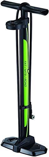 P4B | Fahrrad Standpumpe für Ihr FATBIKE/RENNRAD | DREHBAREM DUAL Manometer | 2 IN 1 Funktion = Hochvolumen- und Hochdruckanzeige mit max. 160 psi / 11 bar | Clever Valve Pumpenkopf für AV und FV