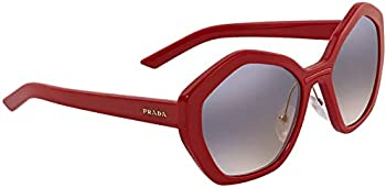 Prada Grad Blue Black Mirror Geometric Ladies Sunglasses