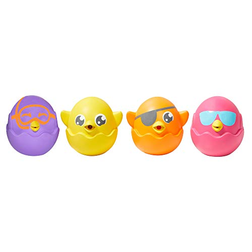 Toomies Tomy Hide & Squeak Squirters - Colorful Bath Time Squirters for Toddlers