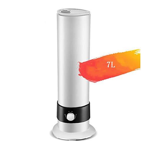 Humidificador de aire de 7 l de alto llenado, humidificador para hogares, uso silencioso, dormitorio, oficina, gran capacidad, humidificador de aire, sin agua, humidificador automático, humidificador.
