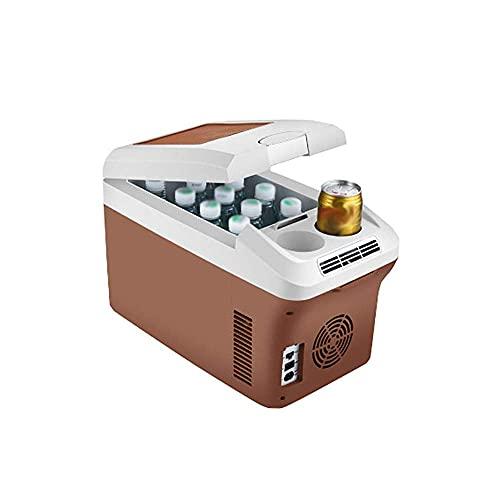QBAMTX Refrigerador De Coche Mini Congelador Portátil De 15L Nevera Compacta De Refrigeración Y Calefacción Doméstica Refrigerada Pequeña para Conducir, Viajar, Pescar, Al Aire Libre Y Uso Doméstico