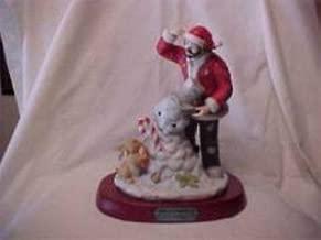Sports Memorabilia Emmett Kelly Jr Spirit of Christmas Ix Figurine Flamb