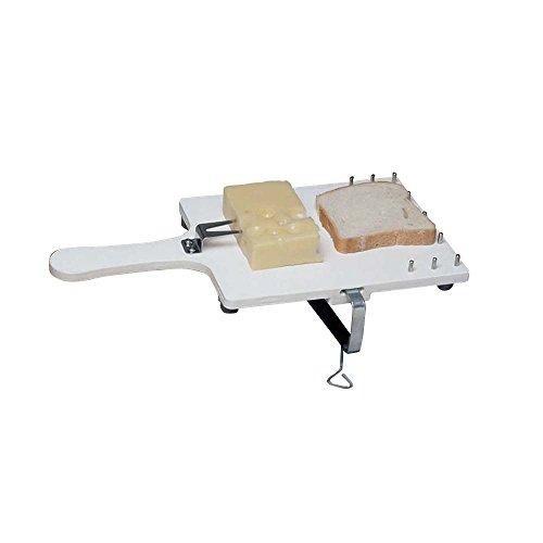 Behrend Küchenbrett mit Haltegabel, Brettchen, Schneidebrett, Schraubzwinge, Gummifüße