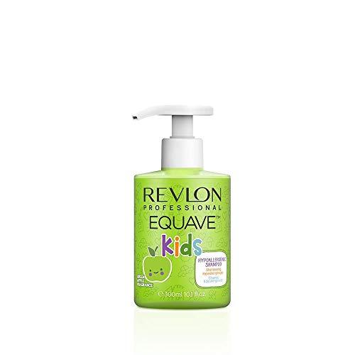 EQUAVE Kids Apple Shampoo, 300 ml, sanftes Kindershampoo mit hypoallergener Gel-Formel, angereichert mit Vitamin B, Pflegeshampoo speziell für die Haare von Kindern