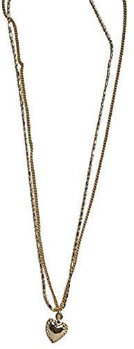 banbeitaotao Collar Simple y versátil Cadena de Amor de Dos Capas Cadena de clavícula Femenina