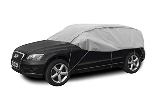 Winter SUV Schutzplane Sonnenplane Schutz vor Sonne und Frost geeignet für Nissan Juke ab 2010 Halbgarage