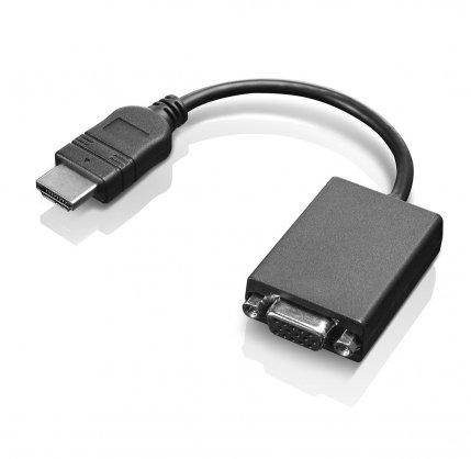 Lenovo HDMI/VGA Adaptor Cable (HDMI, VGA, Male/Female, Black, 0,20m, 1pc (S))