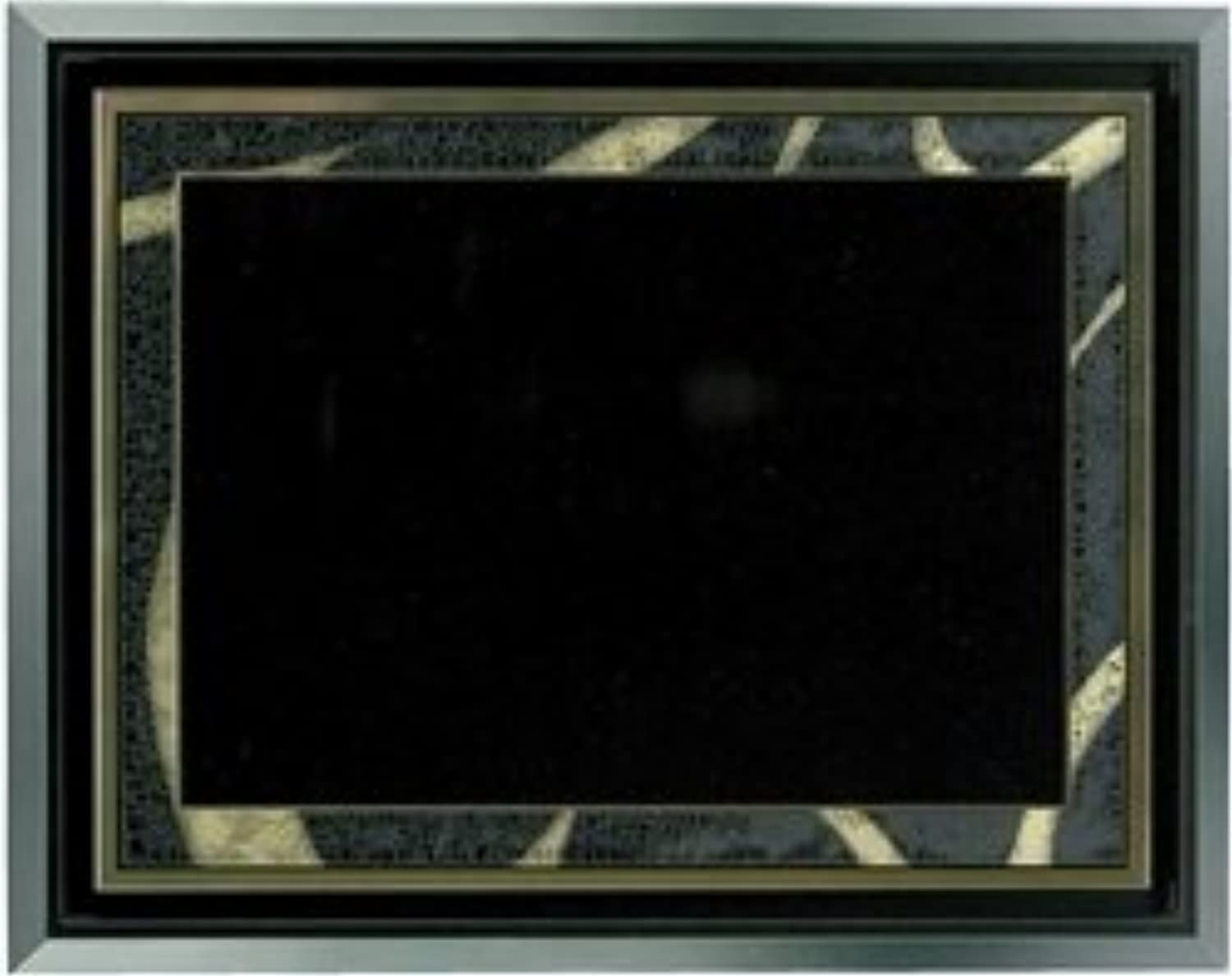 AS457, 5 x 7 Black gold Plate in Floater Frame
