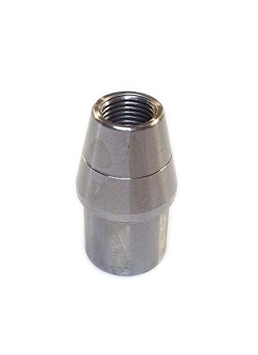 QSC 1/2-20 LH Threaded Weld In Bung .065, Tube Adapter, Threaded Insert