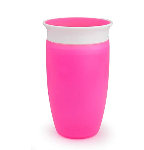Munchkin Miracle 360ᵒ Trinkbecher, auslaufsicher, ab 12 Monaten, rosa, 296 ml