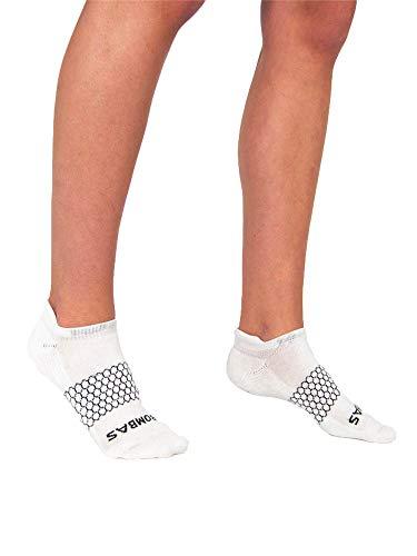 Bombas Women's Original's White Ankle Socks, Size Medium