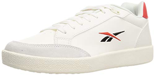 Reebok Vector Smash Syn, Zapatillas de Tenis Unisex Adulto, Chalk/INSRED/Negro, 43 EU