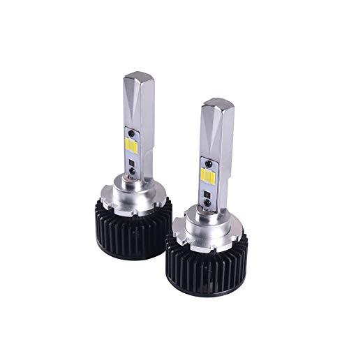 LED-koplamp-gloeilampen voor auto's, superhelder, all-in-one-ombouwset voor verlichting, tweekleurig wit en geel