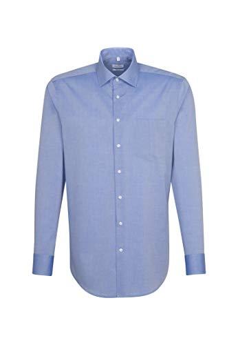 Seidensticker Herren Modern bügelfrei Business Shirt, Mittelblau Neu, 48