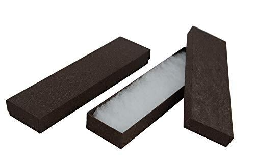 Scatola regalo E-Cig per bracciale e orologi, in lino, marrone scuro, confezione regalo
