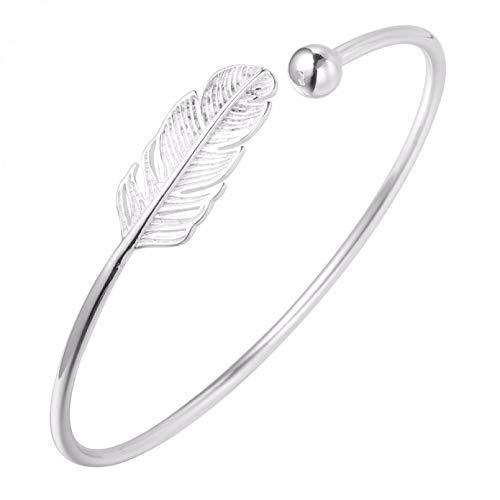 N/A Bracelet jewelry Beautiful Leaf Infinity Boho Cuff Bangles & Bracelets Accessories for Girls Women Gift Trendy Jewelry Valentine's Day present