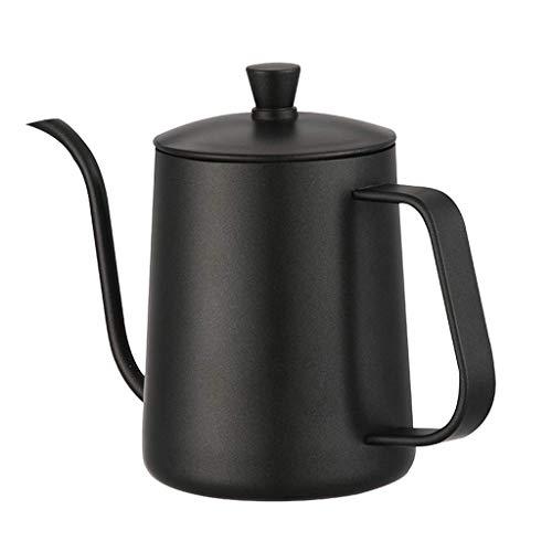 RSH 600 ML, Pot en Acier avec Poignée Droite, Pot en Acier Inoxydable, Pot à Bouche Fine, Noir, a