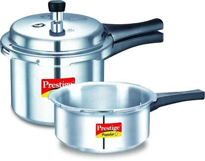 Cocina de inducción de 3 L y 2 L de cocina de aluminio color plata