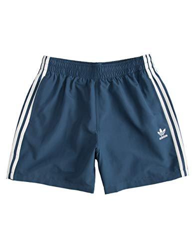 adidas Originals 3-Streifen Badeshorts für Herren -  Blau -  Small