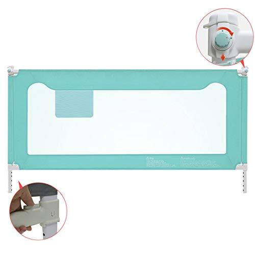 Bett Zaun Baby Bruchsichere Leitplanke Baby Nacht Geländer Kind Anti-Drop-Bett Schallwand 1,8-2 Meter (Color : Green, Size : 180 cm-1pc)