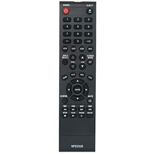 NF033UD Replace Remote Control Applicable for Sylvania LCD TV LD190SS1 LD320SS2 LD190SS2 LD195SSX LD320SSX LD320SS2 A9DF1UH LD320SS1 Emerson TV LD190EM1 LD190EM2 LD260EM2 LD320EM2 RLD190EM1 RLD190EM2
