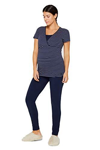 ESPRIT vêtements de maternité, Nachwaesche Femmes Pyjama 2 pièces. Pyjama / Grossesse & Lactation - Hot Stone, Femme, XL (42-44)