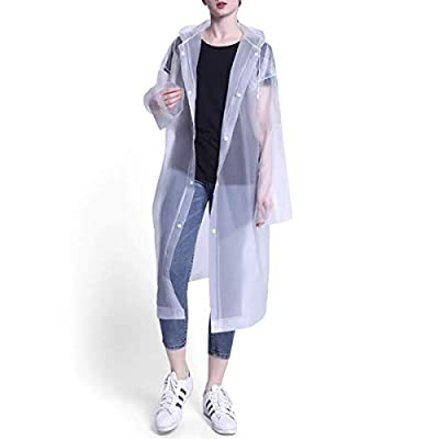 Reusable Rain Ponchos, Waterproof EVA Rain Coat...
