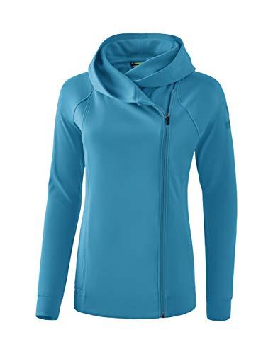 Erima GmbH Essential Sudadera Con Capucha Essential, Mujer, oriental blue/colonial blue, 46
