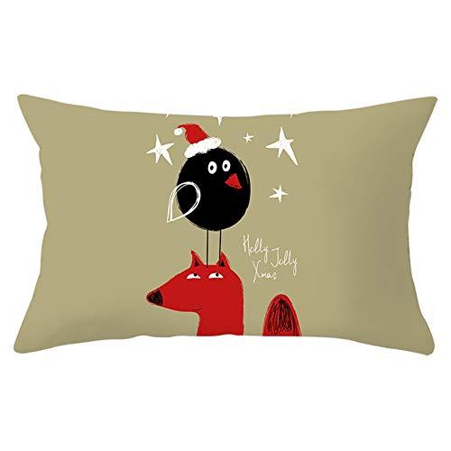 Jingpyij Fundas de Cojines Throw Pillow Case Navidad Cojines Decoracion Terciopelo Suave Fundas de Almohada Rectángulo para Sofá Cama Sillas Coche Dormitorio Decorativo Hogar Y5573 Pillowcase,50x70cm