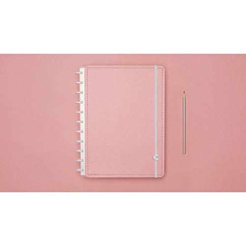 Caderno Grande Tons Past�is Rosa com 80 Folhas Caderno Inteligente