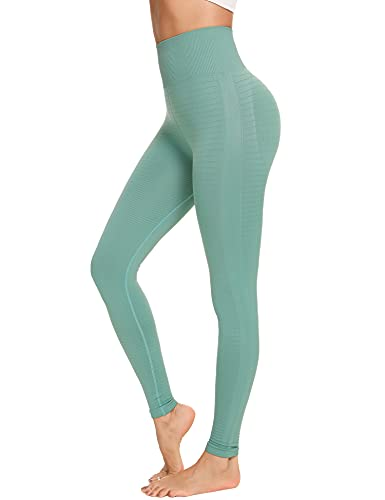 Sykooria Leggings Sin Costuras Mujer Pantalon Deportivo Alta Cintura Mallas de Deporte Leggings Mallas para Yoga Pilates Running Fitness Estiramiento