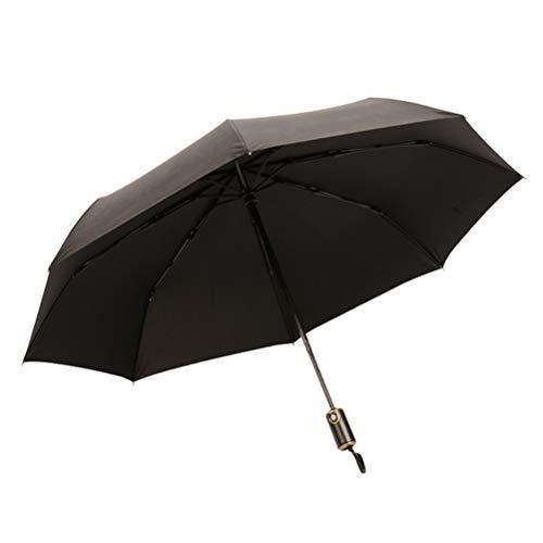 Automatic Umbrella, Pure Kleur Opvouwbare Parasol Met Lederen Handgreep En Winddicht Zonneplek En Anti-UV-Straling Voor Het Bedrijfsleven Reclame Geschenken [8 Paraplu Bot]