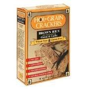 Holgrain Brown Rice Crackers Onion and Garlic -- 45 oz