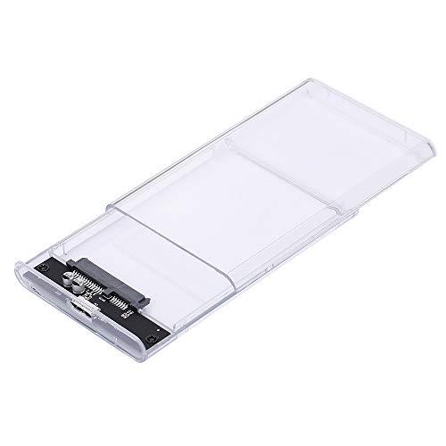 Fesjoy Carcasa para disco duro externo USB 3.0 de 2,5', transparente, compatible con transferencia de alta velocidad Compatible con disco duro SATA de 7 a 9,5 mm